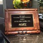 Otto Trucking Earns Safety Award – 5th Consecutive Year
