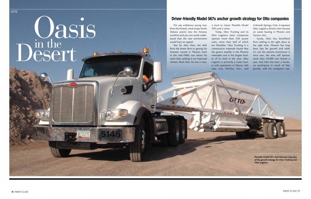 Otto Trucking Magazine article